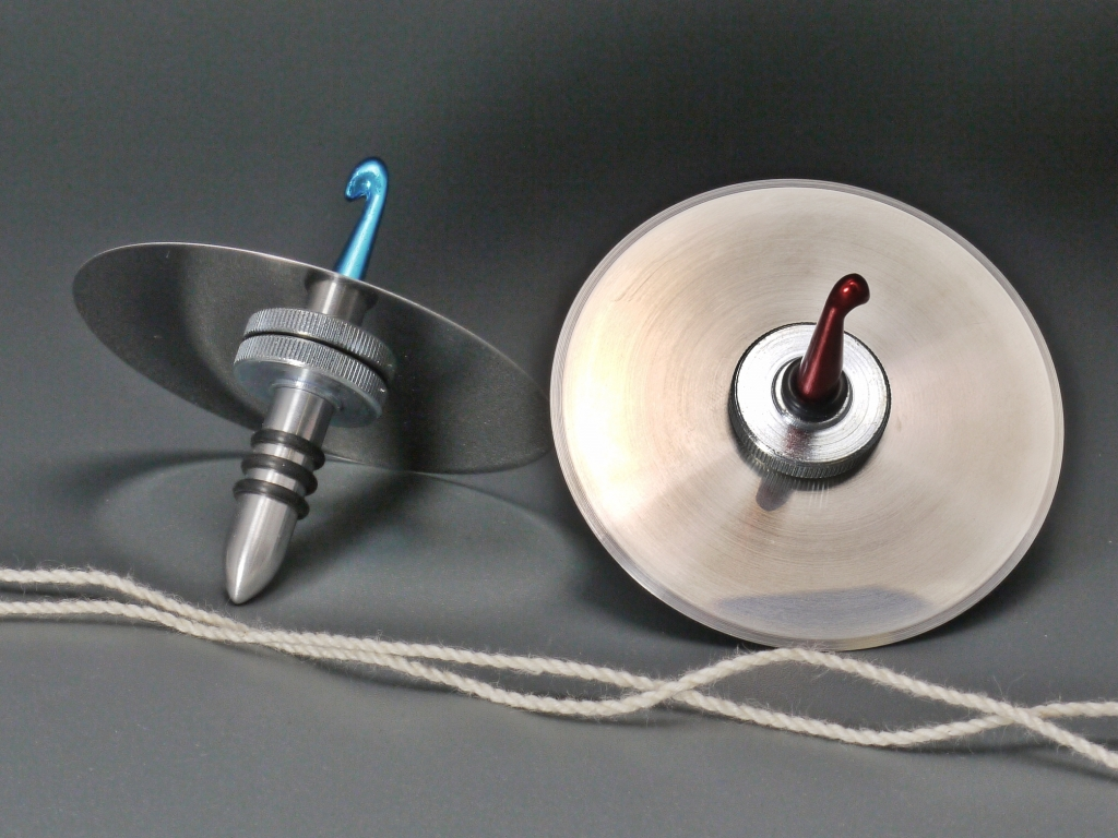 Grill cord Spinning Tops