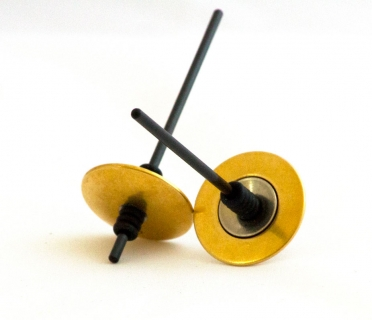 B493 - Knopfkreisel bicolor goldfarbig