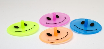 EU3885_4 - Smile-Kreisel neon 4er Set