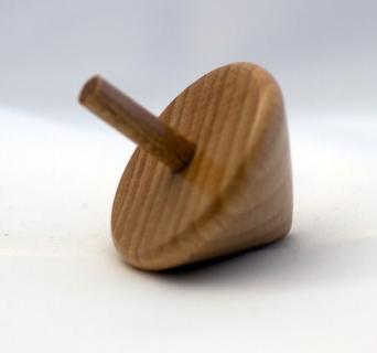 BA7693 - Holzkreisel natur lackiert