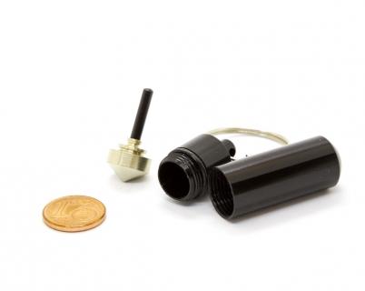 B656 - Schlüsselanhänger mit Mini-Kreisel schwarz