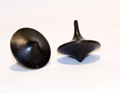 MM8725 - Holzkreisel in Chinaform schwarz