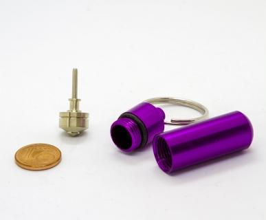 B656_2 - Schlüsselanhänger mit Mini-Kreisel lila