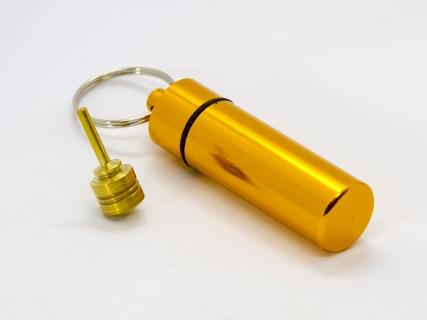 B770_6 - Schlüsselanhänger mit Mini-Kreisel gold