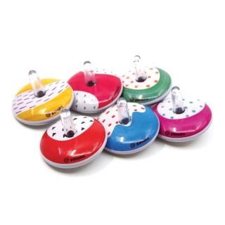 Mini Retro Spinning Tin Top 'Rainbow'