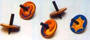 WP638354 - Holzkreisel aus Faserplatte